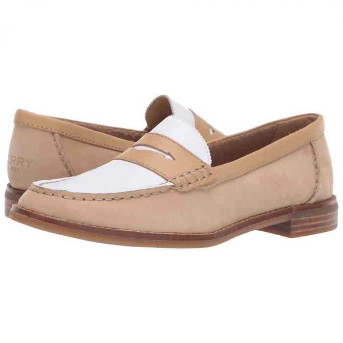 SPERRY ペニー レディース 【 Seaport Penny Tri-tone 】 Tan/white