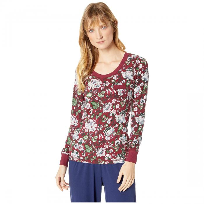 VERA BRADLEY ヘンリー インナー 下着 ナイトウエア レディース ナイト ルーム 【 Henley Pajama Top 】 Bordeaux Blooms