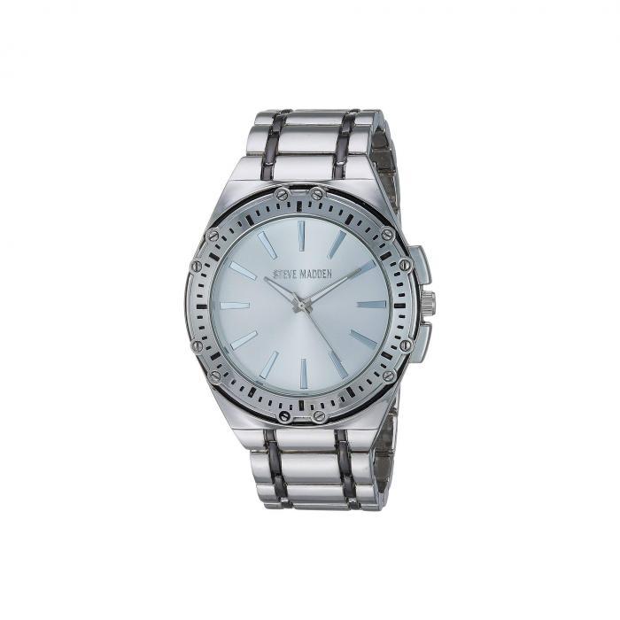 STEVE MADDEN スティーブマッデン ウォッチ 時計 銀色 シルバー 黒 ブラック 【 WATCH SILVER BLACK STEVE MADDEN DESIGN LINK ANALOG SMW241 】 腕時計 メンズ腕時計