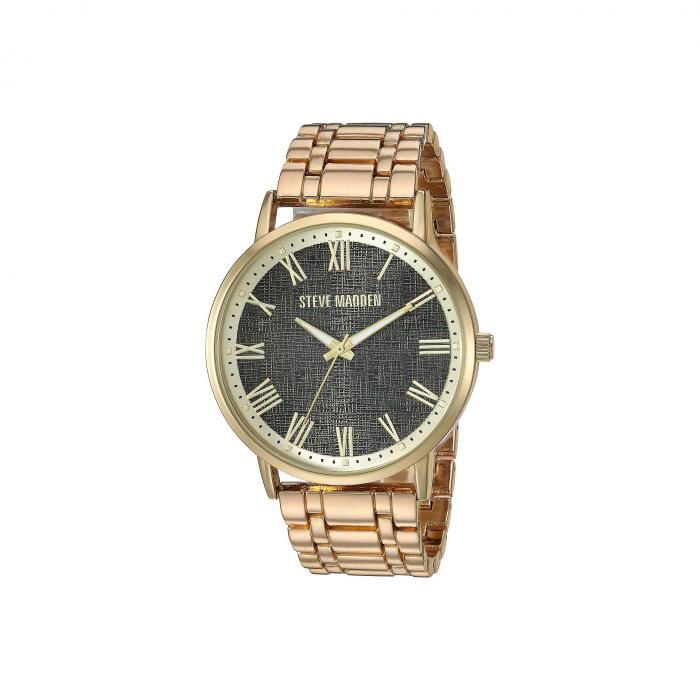 STEVE MADDEN スティーブマッデン ウォッチ 時計 黒 ブラック 【 WATCH BLACK STEVE MADDEN LINK SMW245 GOLD 】 腕時計 メンズ腕時計