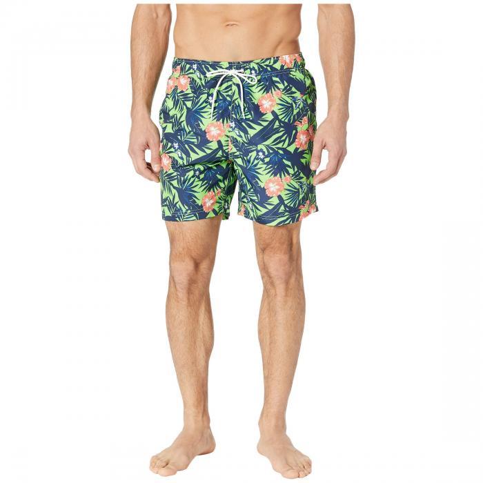 NAUTICA メンズファッション 水着 メンズ 【 Floral Print Swim Trunk 】 Fresh Lime
