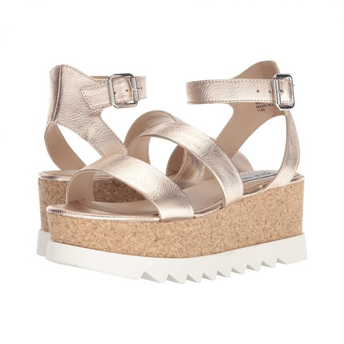 【スーパーセール商品 12/4-12/11】STEVE MADDEN 【 KIRSTEN CORK PLATFORM WEDGE SANDAL ROSE LEATHER 】 送料無料