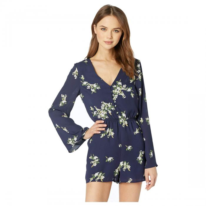 CUPCAKES AND CASHMERE 【 CUPCAKES AND CASHMERE DORENE FLORAL PRINTED ROMPER INK 】 レディースファッション