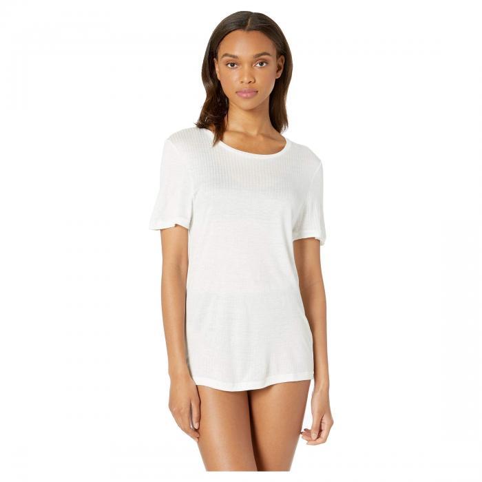 コサベラ COSABELLA Tshirt, インナー 下着 ナイトウエア レディース ナイト ルーム 【 Soft Cotton T-shirt, Bralette And High-waist Thong Set 】 Black/white