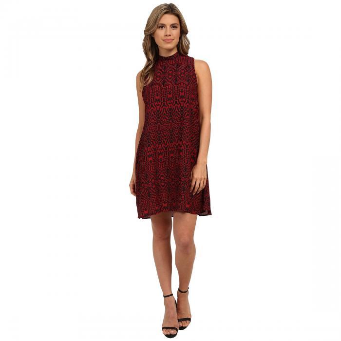 【海外限定】ドレス ワンピース レディースファッション 【 SKYLA SIESMIC PRINT MOCK NECK DRESS 】