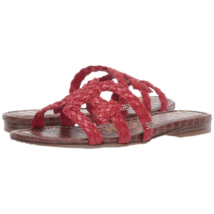 SAM EDELMAN レディース 【 Beckie 】 Candy Red Woven Nappa