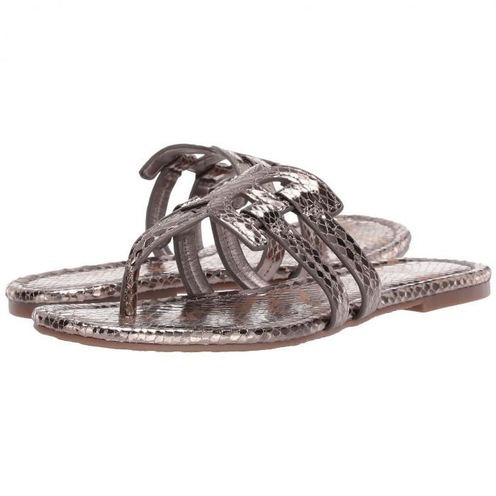 SAM EDELMAN レディース 【 Cara 】 Pewter Metallic Boa Snake Print/liquid Metallic