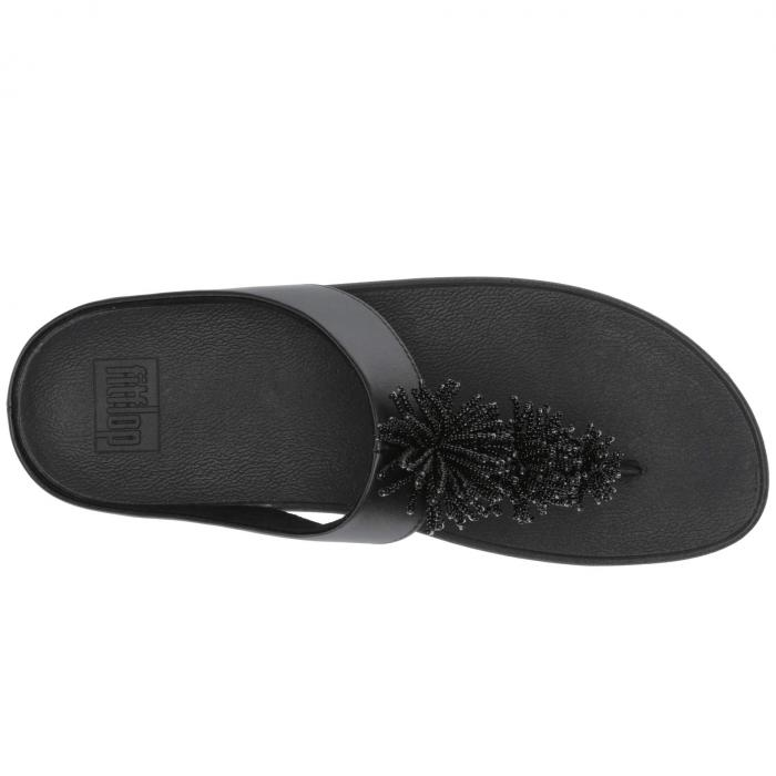 FITFLOP 黒 ブラックBLACK FITFLOP FINO BEAD POMoexrdCWB