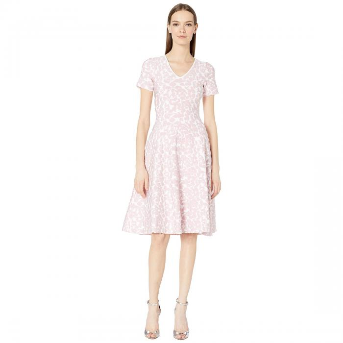 ZAC POSEN ニット 【 KNIT FLOWER DRESS WHITE PINK 】 レディースファッション ドレス 送料無料