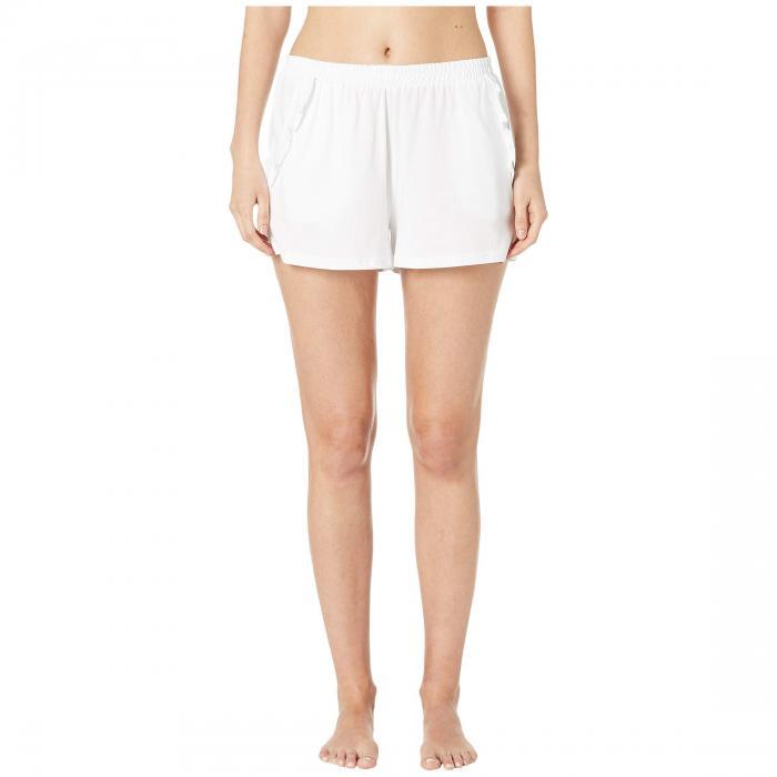 SKIN ショーツ ハーフパンツ インナー 下着 ナイトウエア レディース ナイト ルーム 【 Libby Organic Cotton Shorts 】 White