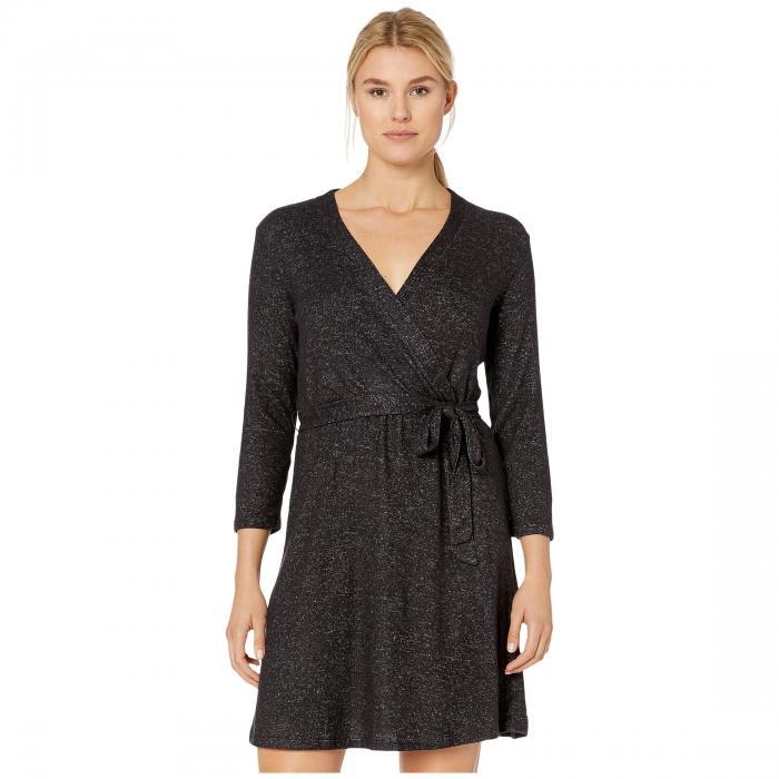 BOBEAU ラップ ドレス 黒 ブラック 【 WRAP BLACK BOBEAU DRESS RAVEN MIX 】 レディースファッション ドレス