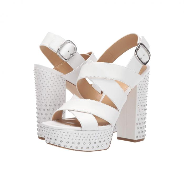 【スーパーセール商品 12/4-12/11】MICHAEL KORS 【 MILA PLATFORM SANDAL OPTIC WHITE 】 送料無料