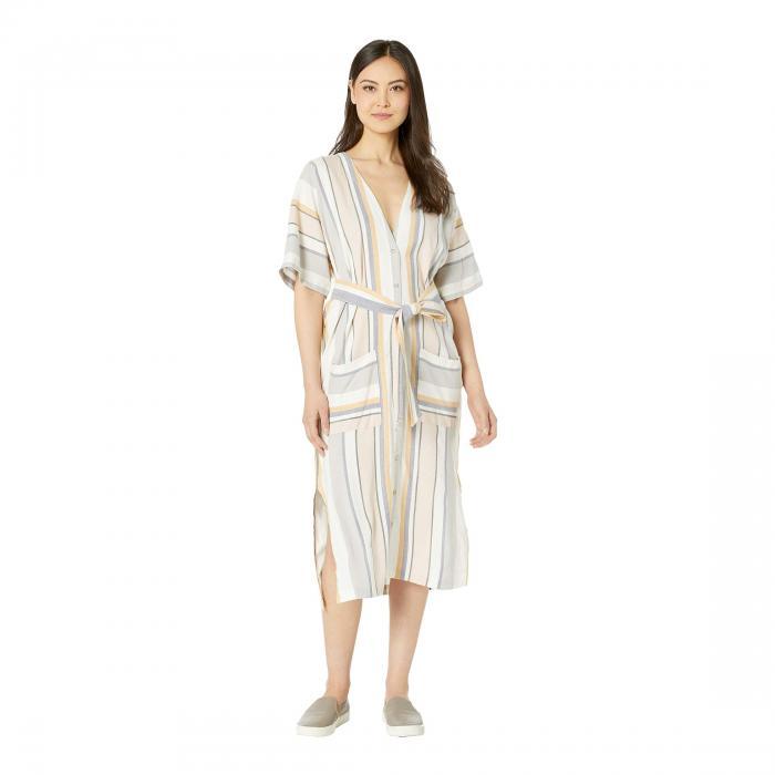 【★スーパーセール中★ 6/11深夜2時迄】THREE DOTS ストライプ ドレス レディースファッション レディース 【 Portofino Stripe Kimono Dress 】 Multi