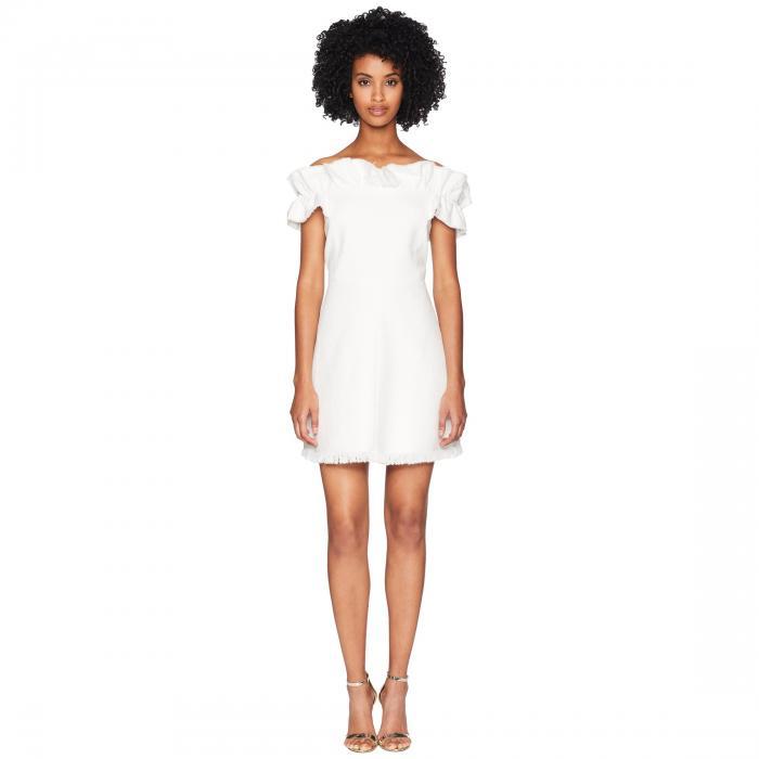 REBECCA TAYLOR ドレス 【 REBECCA TAYLOR OFF SHOULDER SLUB SUIT DRESS SNOW 】 レディースファッション ドレス