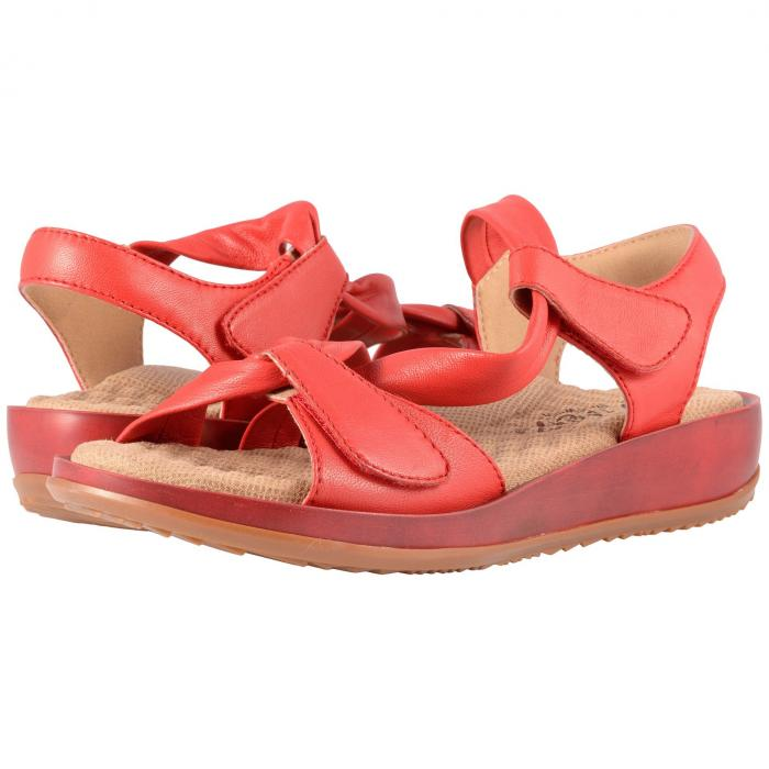 SOFTWALK レディース 【 Del Rey 】 Red Really Soft Leather