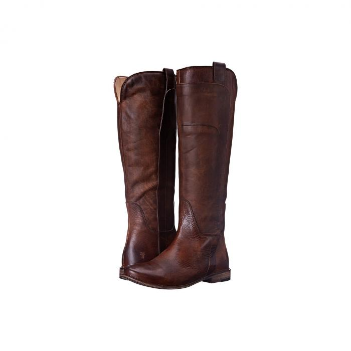 FRYE レディース 【 Paige Tall Riding 】 Dark Brown Antique Pull Up