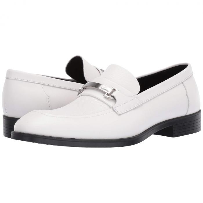 【スーパーセール商品 12/4-12/11】カルバンクライン CALVIN KLEIN ドレス 【 CRAIG WHITE DRESS CALF SMALL GRID EMBOSS 】 メンズ ローファー 送料無料