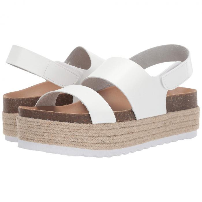 ダーティランドリー DIRTY LAUNDRY レディース 【 Peyton Platform Sandal 】 White Smooth
