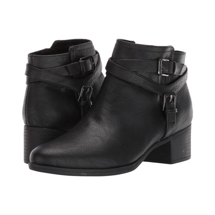 NATURALIZER レディース 【 Kallista 】 Black Tumbled Synthetic Leather