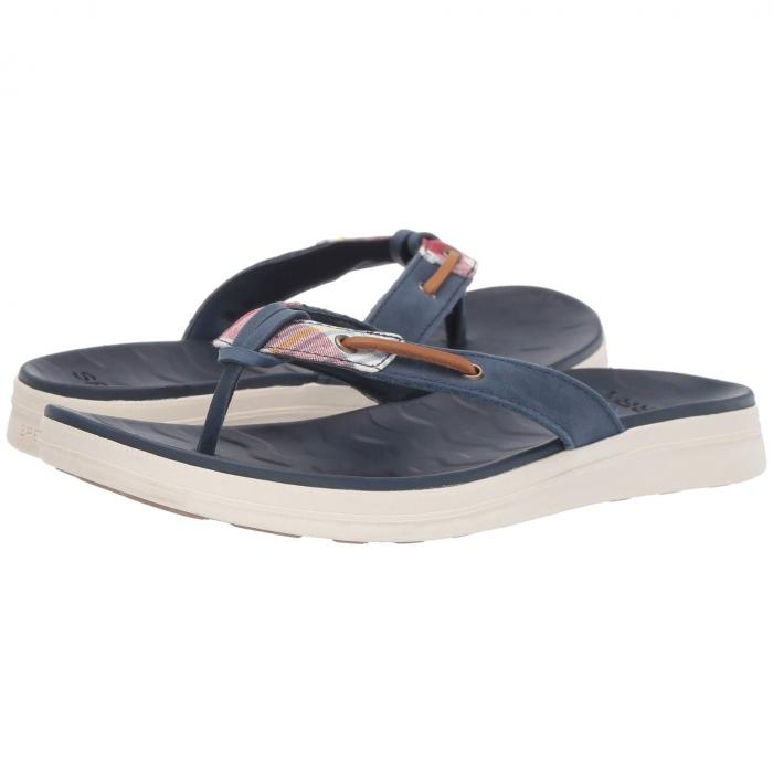 SPERRY レディース 【 Adriatic Thong Skip Lace Prep 】 Madras/navy