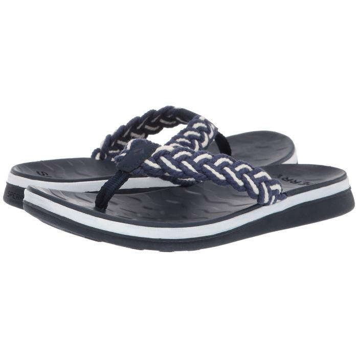 【スーパーセール商品】SPERRY 【 ADRIATIC THONG BRAIDED NAVY WHITE 】 送料無料