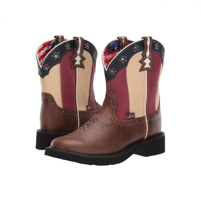 JUSTIN レディース 【 Chellie Stars And Stripes 】 Brown/old Glory