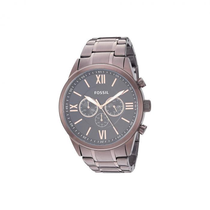 FOSSIL ステンレス 銀色 スチール ウォッチ 時計 茶 ブラウン 【 WATCH BROWN FOSSIL FLYNN CHRONOGRAPH STAINLESS STEEL BQ2377 】 腕時計 メンズ腕時計