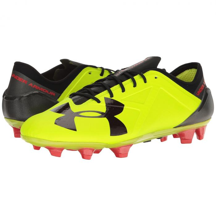 アンダーアーマー UNDER ARMOUR スニーカー 【 UA SPOTLIGHT FG HIGHVIS YELLOW ROCKET RED BLACK 】 メンズ 送料無料