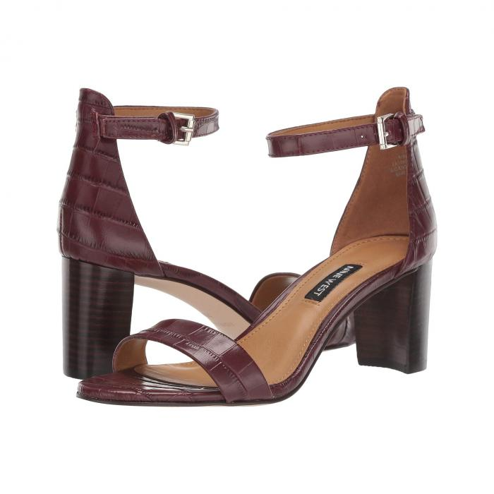 NINE WEST レディース 【 Pruce Block Heel Sandal 】 Bordo