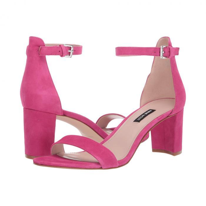 NINE WEST レディース 【 Pruce Block Heel Sandal 】 Bright Fuchsia