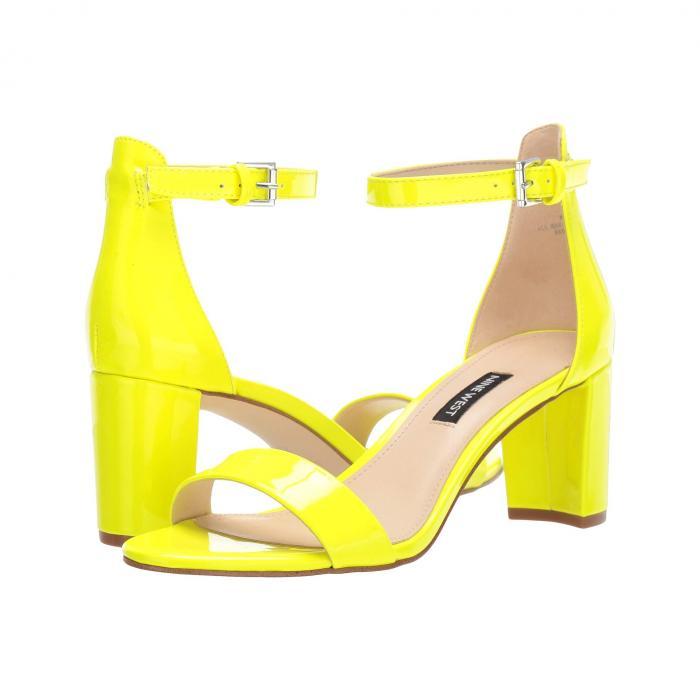 NINE WEST レディース 【 Pruce Block Heel Sandal 】 Neon Yellow