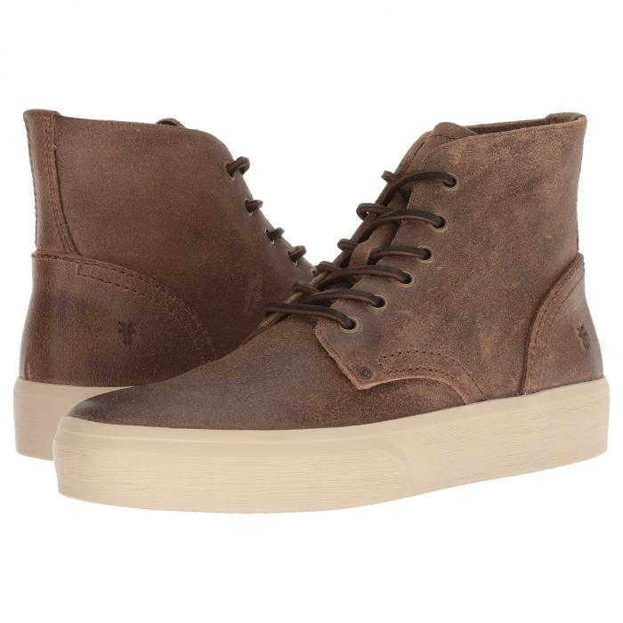 FRYE スニーカー メンズ 【 Beacon Lace-up 】 Tan Waxed Suede