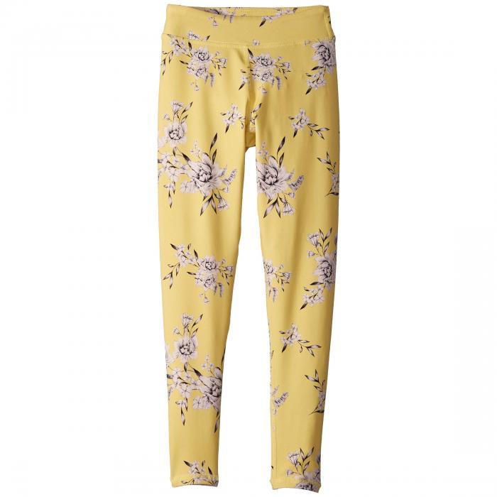 SPIRITUAL GANGSTER KIDS レギンス タイツ キッズ ベビー マタニティ ボトムス ジュニア 【 Active Leggings (little Kids/big Kids) 】 Yellow Floral