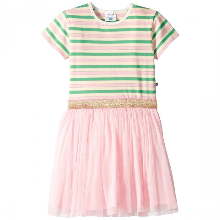 TOOBYDOO ドレス ストライプ 【 STRIPE TOOBYDOO TULLE PARTY DRESS TODDLER LITTLE KIDS BIG GLITTER 】 キッズ ベビー マタニティ ベビー服 ファッション トップス