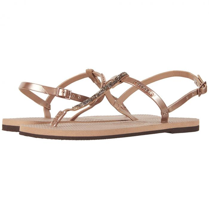 HAVAIANAS レディース 【 You Riviera Crystal Sandals 】 Rose Gold