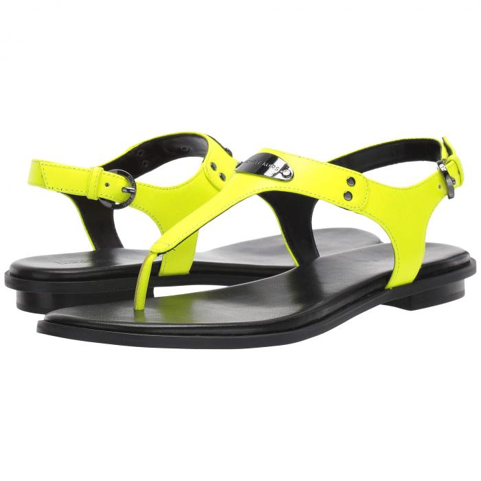 MICHAEL KORS 【 MK PLATE THONG NEON YELLOW 】 送料無料