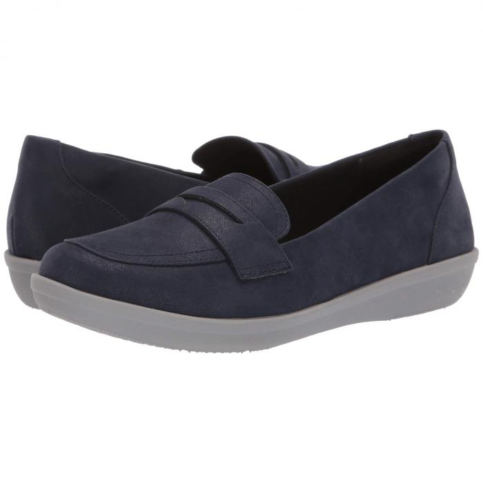 クラークス CLARKS レディース 【 Ayla Form 】 Navy Synthetic Nubuck