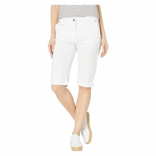 TRIBAL 白 ホワイト 【 WHITE TRIBAL STRETCH MINI TWILL FLY FRONT BERMUDA 】 レディースファッション ボトムス パンツ
