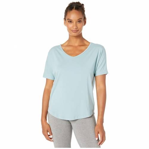 MANDUKA Tシャツ 青 ブルー 【 BLUE MANDUKA ENLIGHT RELAXED TEE STONE 】 レディースファッション トップス