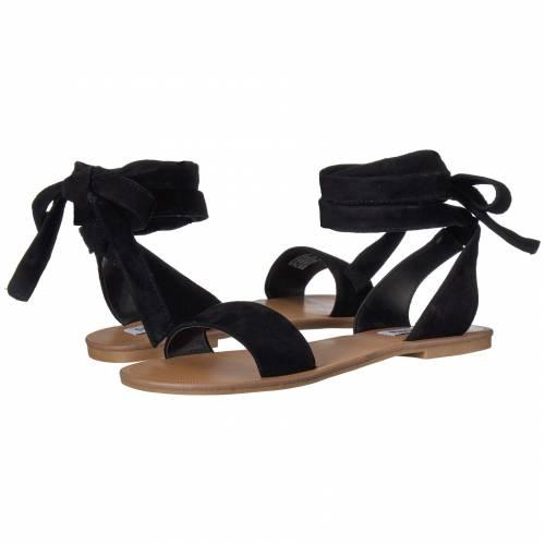 STEVE MADDEN レディース 【 Reputation Flat Sandals 】 Black Suede