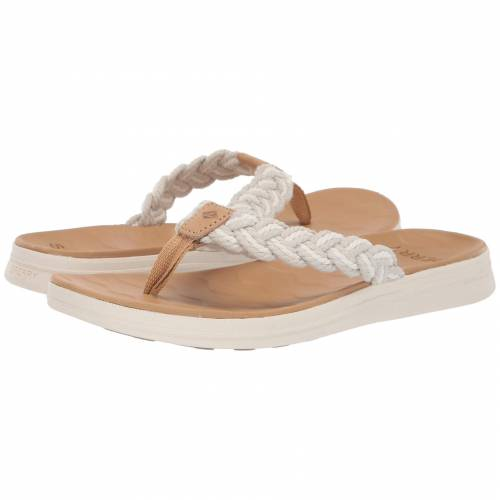 SPERRY レディース 【 Adriatic Thong Braided 】 Linen/natural