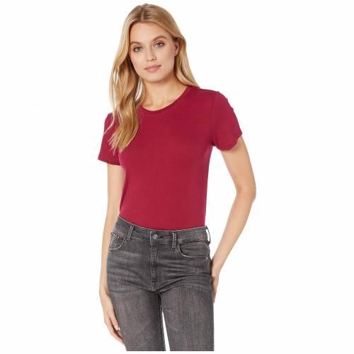 HURLEY ソリッド Tシャツ スリーブ レディースファッション トップス カットソー レディース 【 Solid Perfect Crew T-shirt Short Sleeve 】 Noble Red
