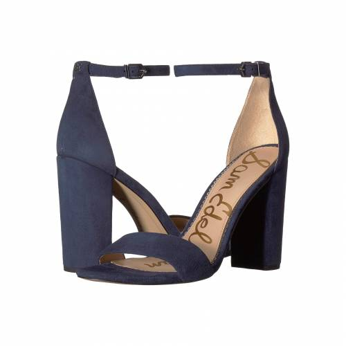 SAM EDELMAN ストラップ レディース 【 Yaro Ankle Strap Sandal Heel 】 Baltic Navy Suede Leather