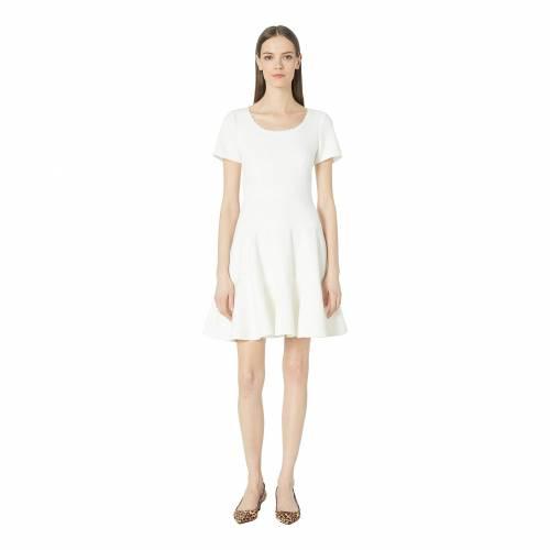 【★スーパーセール中★ 6/11深夜2時迄】REBECCA TAYLOR スリーブ テクスチャー ドレス レディースファッション レディース 【 Short Sleeve Stretch Texture Dress 】 Snow