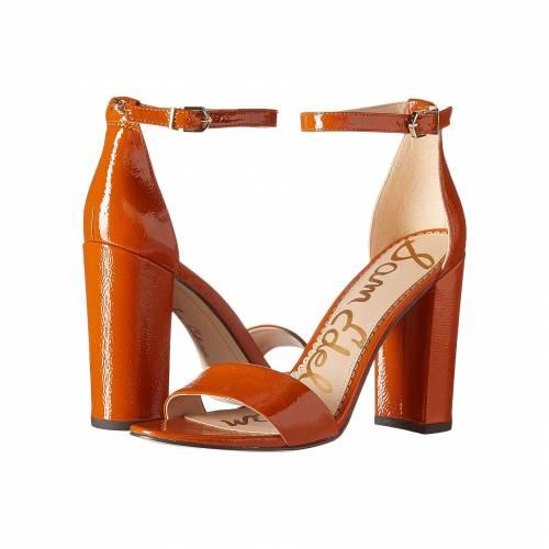 SAM EDELMAN ストラップ レディース 【 Yaro Ankle Strap Sandal Heel 】 Tawny Brown Goat Crinkle Patent Leather