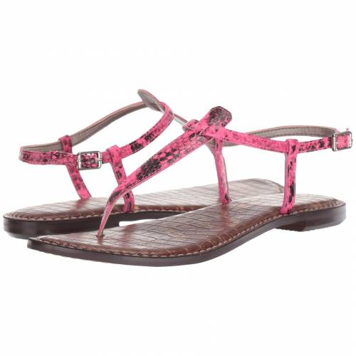 SAM EDELMAN レディース 【 Gigi 】 Neon Pink Snake Print Leather