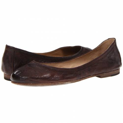 FRYE レディース 【 Carson Ballet 】 Dark Brown Antique Soft Full Grain
