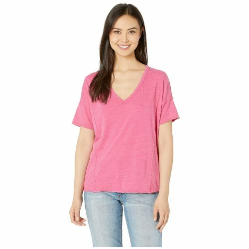 LUCKY BRAND Tシャツ レディースファッション トップス レディース 【 Seamed Burnout Tee 】 Lilac Rose