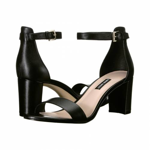 NINE WEST レディース 【 Pruce Block Heel Sandal 】 Black Nappa