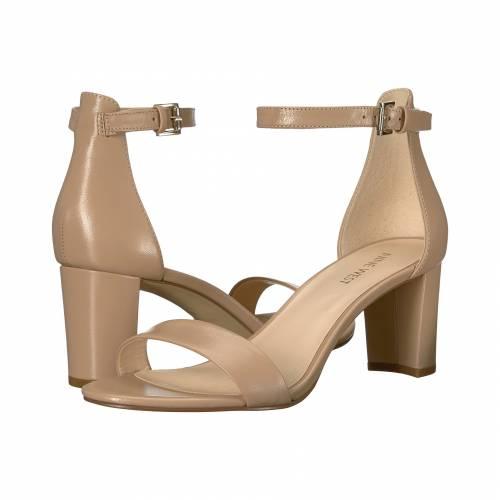 NINE WEST レディース 【 Pruce Block Heel Sandal 】 Natural Staci Leather